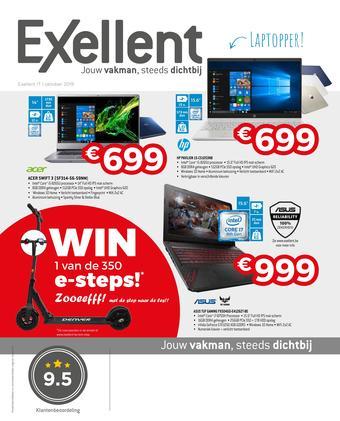 Exellent reclame folder (geldig t/m 31-10)