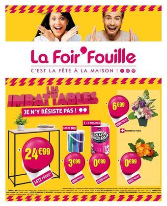 La Foir'Fouille reclame folder (geldig t/m 27-10)