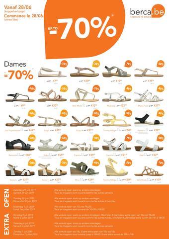 Berca Shoes reclame folder (geldig t/m 31-07)