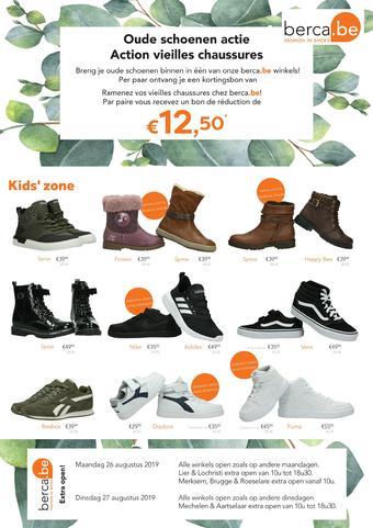 Berca Shoes reclame folder (geldig t/m 15-09)
