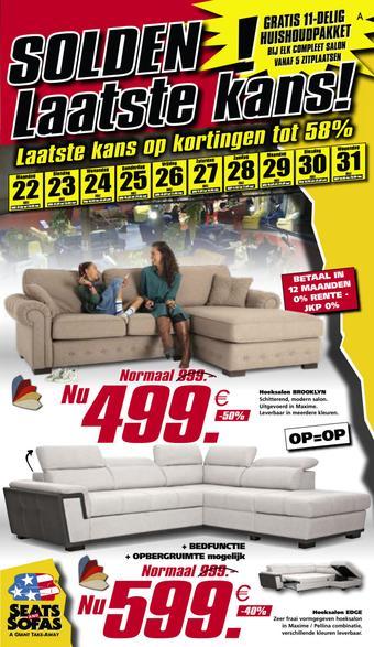 Seats and Sofas reclame folder (geldig t/m 31-07)