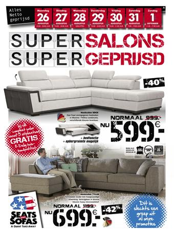Seats and Sofas reclame folder (geldig t/m 01-09)