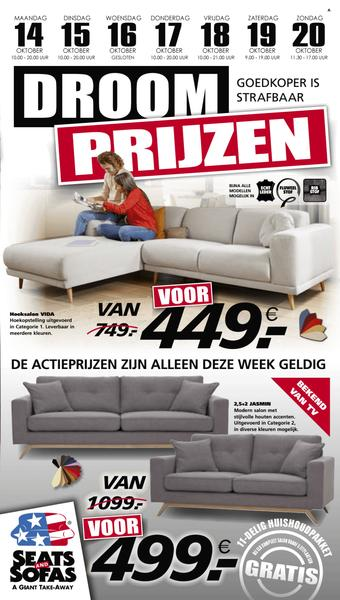Seats and Sofas reclame folder (geldig t/m 20-10)