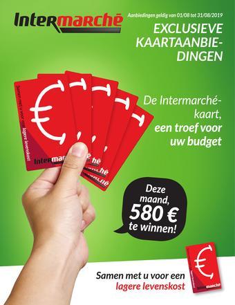 Intermarché reclame folder (geldig t/m 31-08)