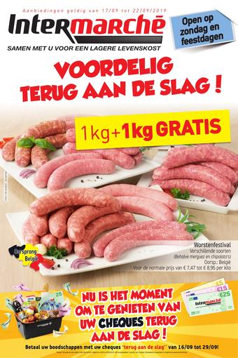 Intermarché reclame folder (geldig t/m 22-09)