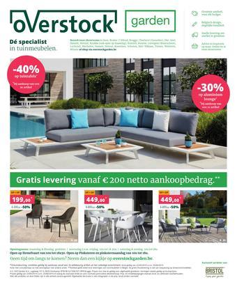 Overstock Garden reclame folder (geldig t/m 25-06)