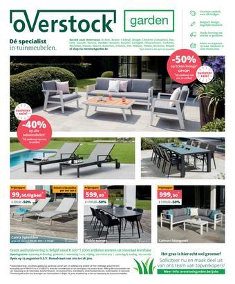 Overstock Garden reclame folder (geldig t/m 31-08)