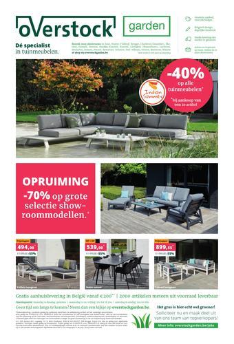 Overstock Garden reclame folder (geldig t/m 28-09)