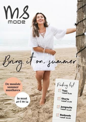 MS Mode reclame folder (geldig t/m 31-08)