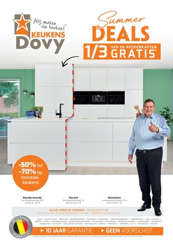 Dovy keukens reclame folder (geldig t/m 31-07)