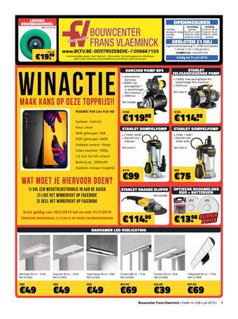 Bouwcenter Frans Vlaeminck reclame folder (geldig t/m 31-07)