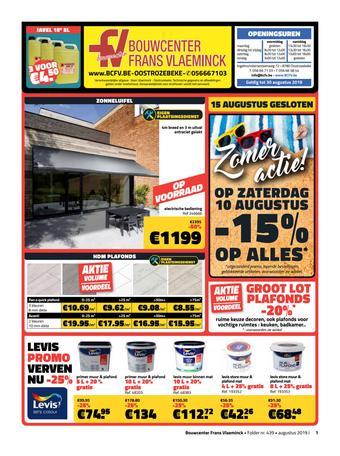Bouwcenter Frans Vlaeminck reclame folder (geldig t/m 30-08)