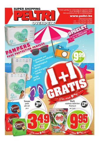 Peltri reclame folder (geldig t/m 27-08)