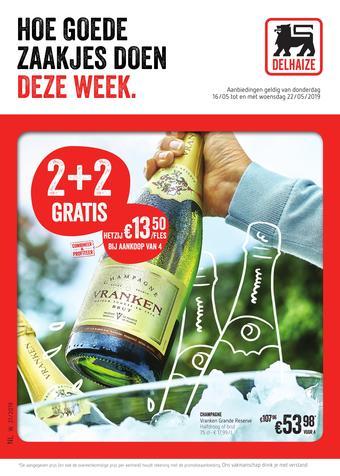 Shop & Go Delhaize reclame folder (geldig t/m 22-05)