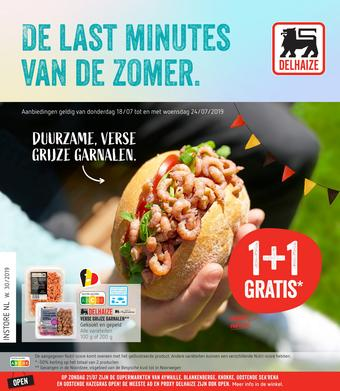 Shop & Go Delhaize reclame folder (geldig t/m 24-07)