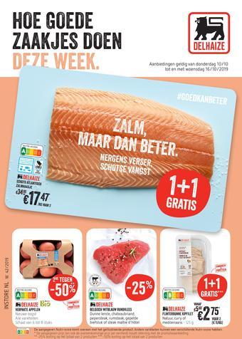 Shop & Go Delhaize reclame folder (geldig t/m 16-10)