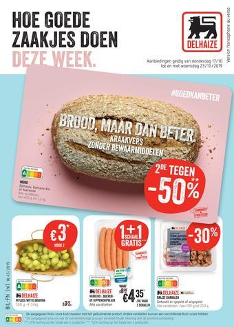 Shop & Go Delhaize reclame folder (geldig t/m 23-10)