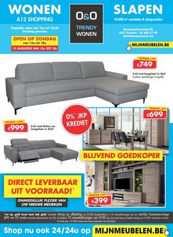 O&O Trendy Wonen reclame folder (geldig t/m 29-09)