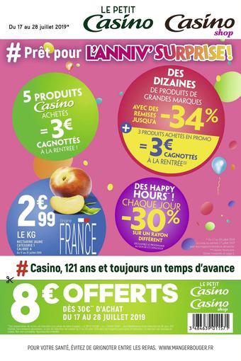 Petit Casino catalogue publicitaire (valable jusqu'au 28-07)