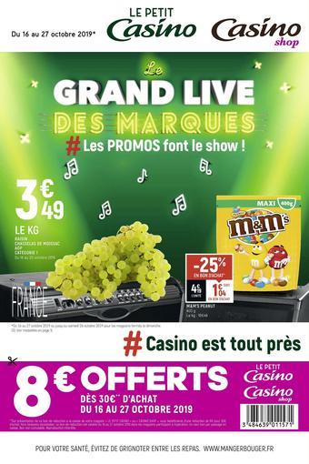 Casino Shop catalogue publicitaire (valable jusqu'au 27-10)