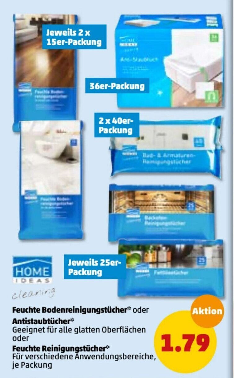 Home Ideas Cleaning Feuchte Bodenreinigungstücher Antistaubtücher ...