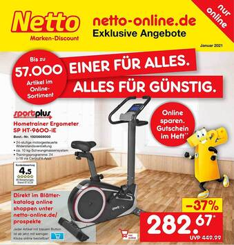 Sportplus Hometrainer Ergometer Sp Ht-9600-ie