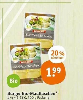 Bürger Bio Maultaschen