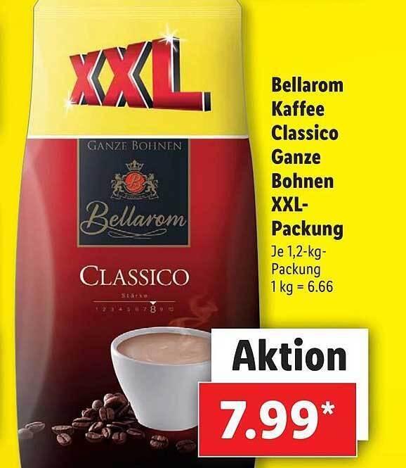 Bellarom Kaffee Classico Ganze Bohnen Xxl Packnung Angebot Bei Lidl