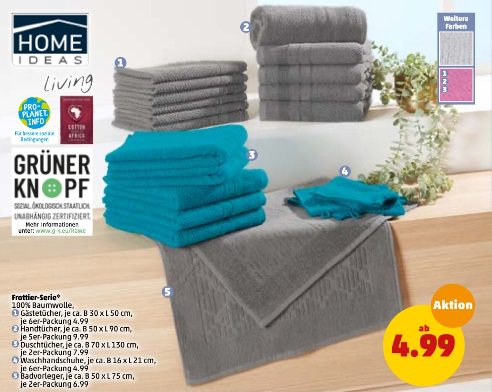 Home Ideas Living Frottier Serie Angebot bei PENNY