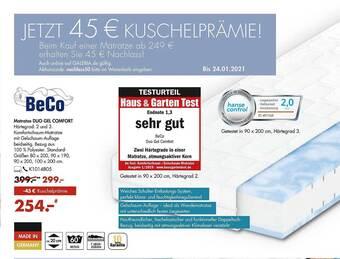 Matratze Duo Gel Comfort