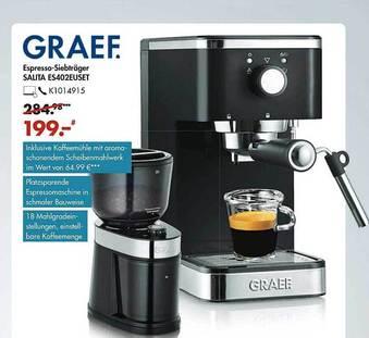 Graef. Espresso-Siebträger Salita ES402EUSET
