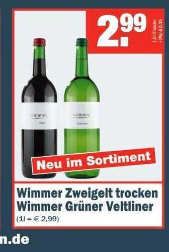 Wimmer Zweigelt trocken Wimmer Grüner Veltliner