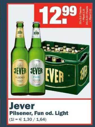 Jever Pilsener, Fun od. Light