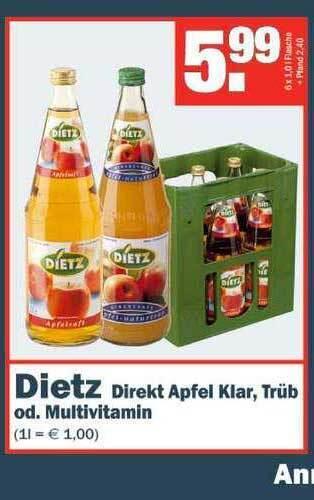 Dietz Direkt Apfel Klar, Trüb od. Multivitamin