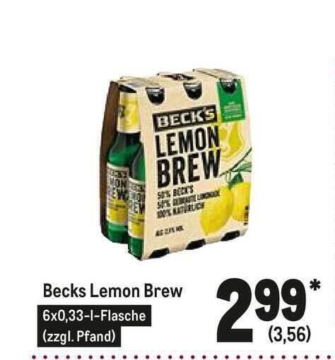 Becks Lemon Angebot