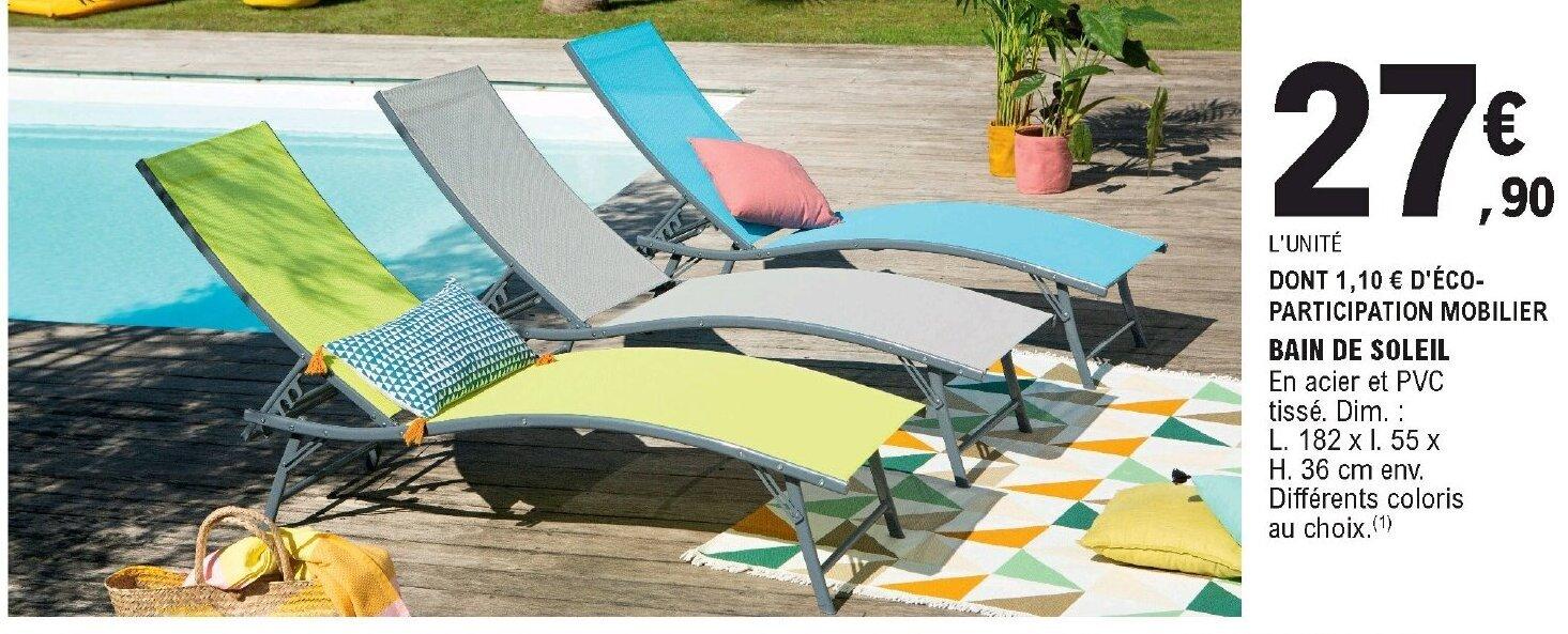 promo bain de soleil chez eleclerc