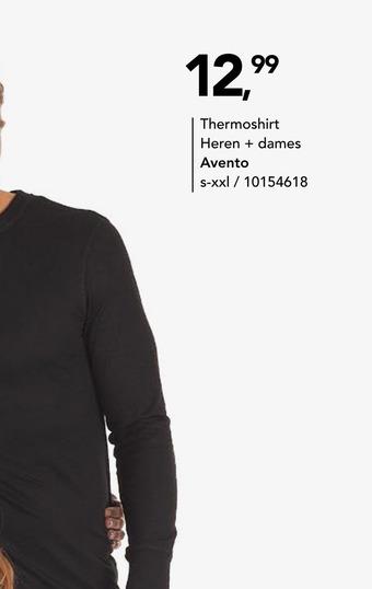 Thermoshirt Heren + dames Avento S-XXL