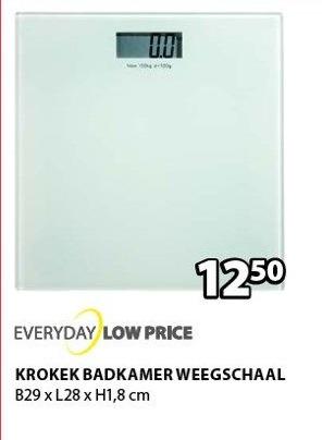 Everyday Loww Price Krokek Badkamer Weegschaal