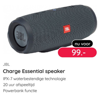 JBL Charge Essential speaker