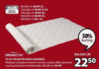Dreamzone plus T40 matrasbeschermer