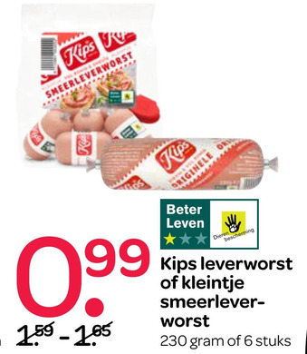 Kips leverworst of kleintje smeerlever- worst