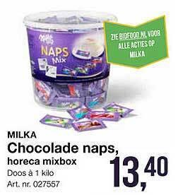 Chocolade naps.