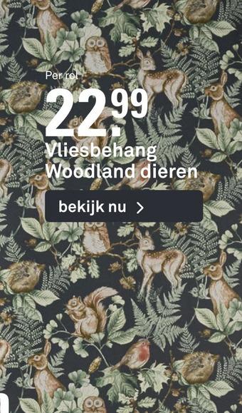 Vliesbehang Woodland dieren