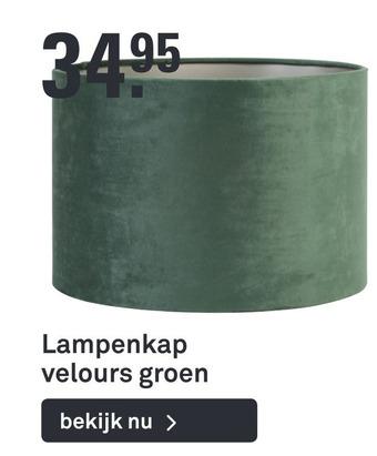 Lampenkap velours groen