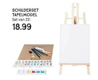 Schilderset Tafelmodel