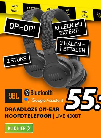 JBL draadloze on-ear hoofdtelefoon