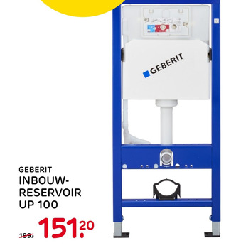 Geberit Inbouw- Reservoir Up 100