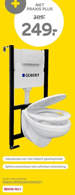 Go By Van Marcke Inbouwreservoirset