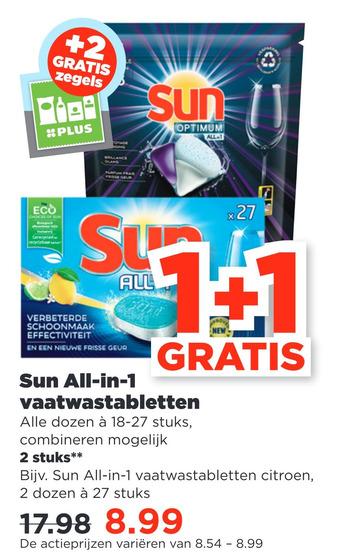 Sun All-in-1 vaatwastabletten