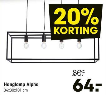 Hanglamp Alpha